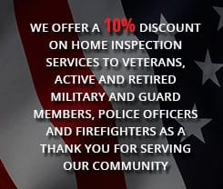 10% discount to veterans, active and retired military and guard members, police officers and firefighters